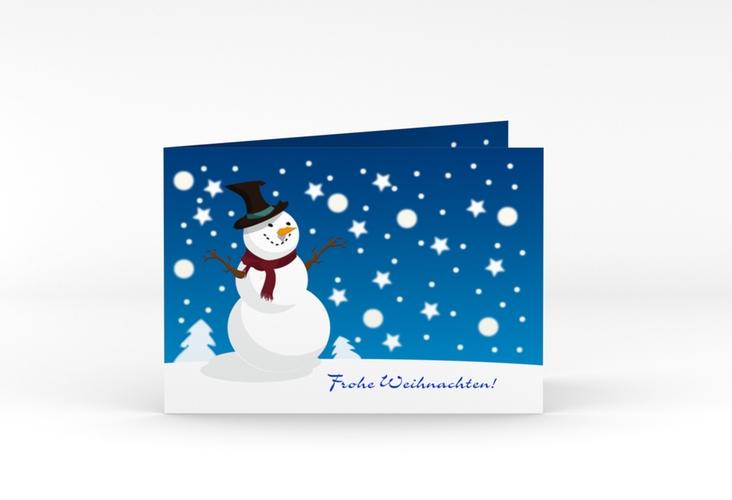 """Weihnachtskarte """"Snowy"""" A6 Klappkarte Quer"""