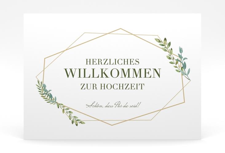 """Willkommensschild Poster """"Herbarium"""" 70 x 50 cm Poster gold"""