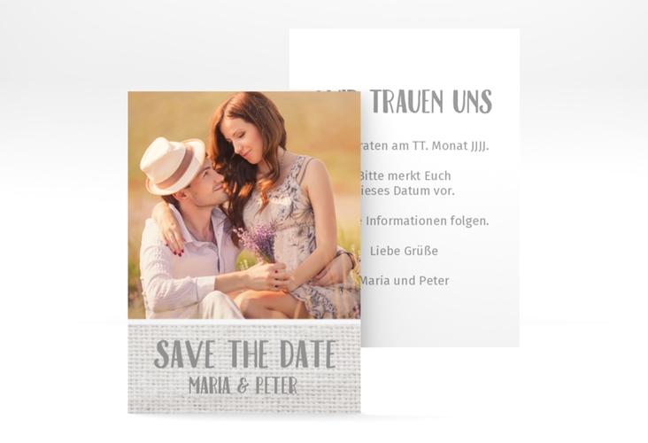"Save the Date-Visitenkarte ""Landliebe"" Visitenkarte weiss"