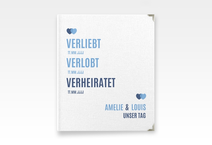 """Hochzeitsalbum """"Couple"""" 21 x 25 cm blau"""