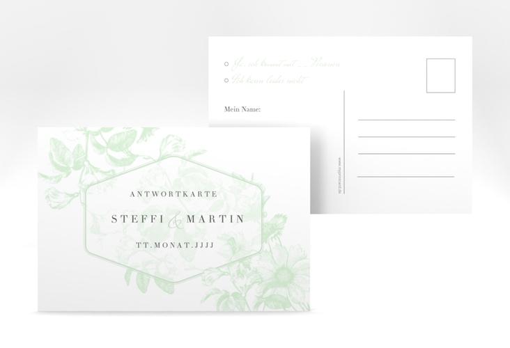 """Antwortkarte Hochzeit """"Magnificent"""" A6 Postkarte mint"""