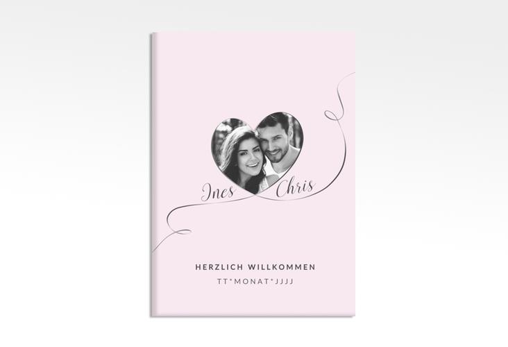 "Willkommensschild Poster ""Dolce"" 50 x 70 cm Leinwand rosa"