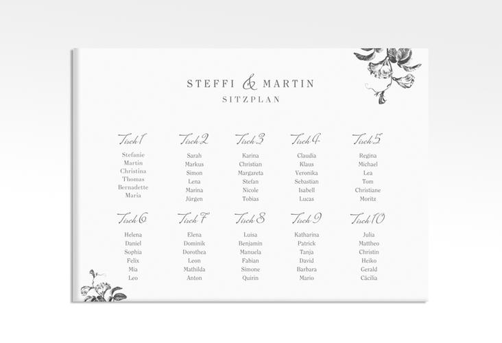 """Sitzplan Leinwand Hochzeit """"Magnificent"""" 70 x 50 cm Leinwand"""