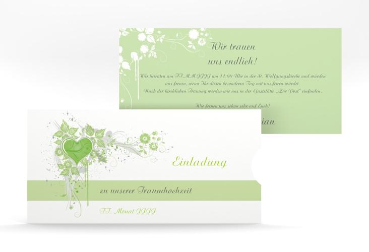 """Hochzeitseinladung """"Triest"""" Einsteckkarte gruen"""