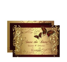 """Save the Date-Karte Hochzeit """"Toulouse"""""""
