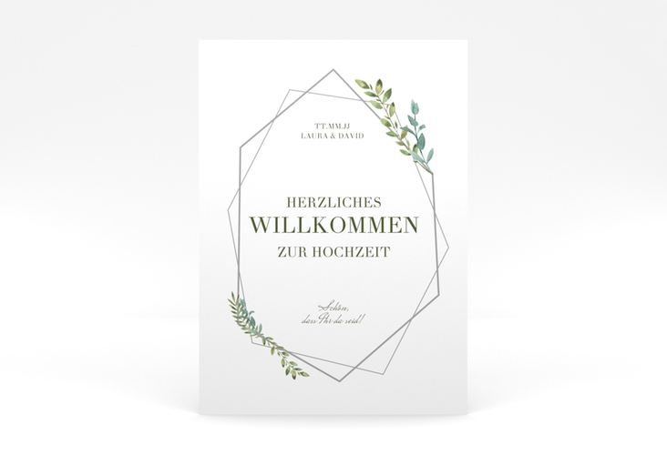 """Willkommensschild Poster """"Herbarium"""" 50 x 70 cm Poster grau"""