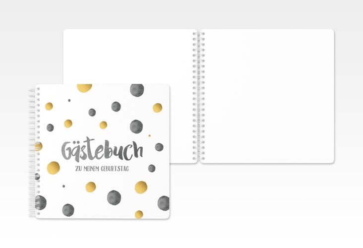 "Gästebuch Geburtstag ""Dots"" Ringbindung schwarz"