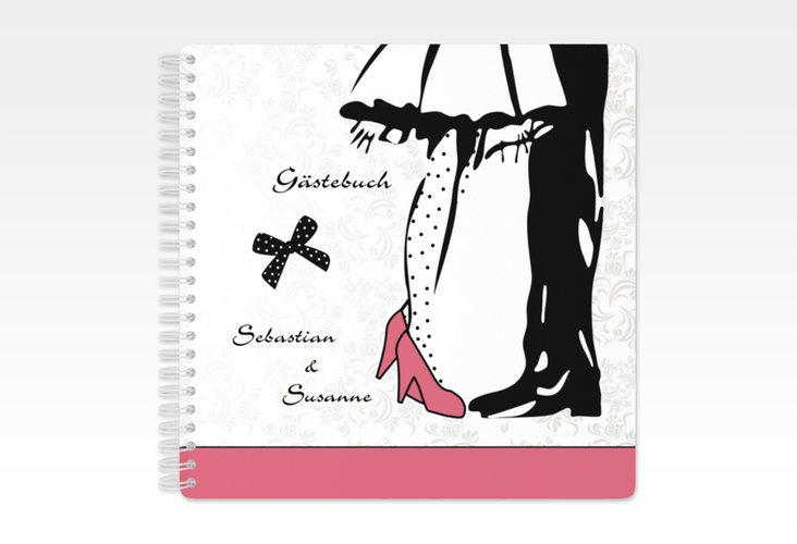 "Gästebuch Hochzeit ""Straßburg"" Ringbindung rosa"