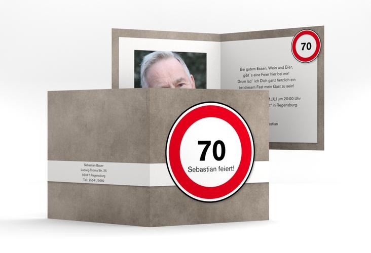 """Einladungskarte """"Emil/Emma"""" Quadratische Klappkarte"""