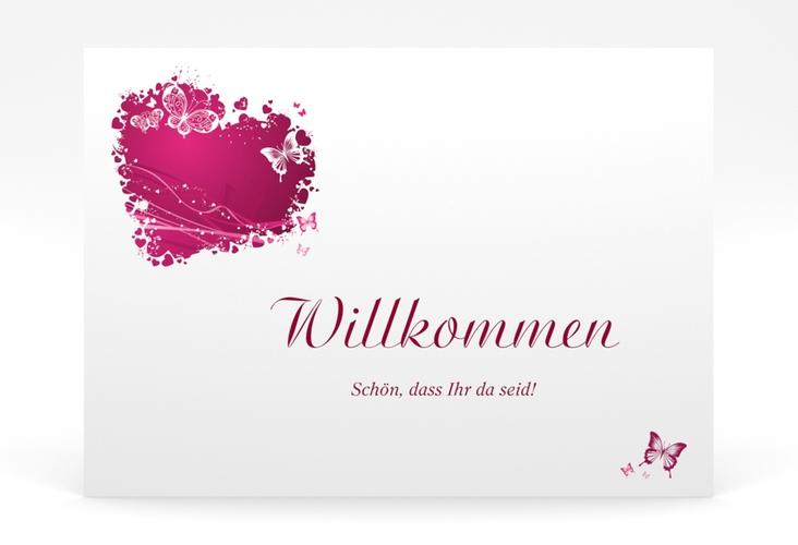 """Willkommensschild Poster """"Mailand"""" 70 x 50 cm Poster pink"""