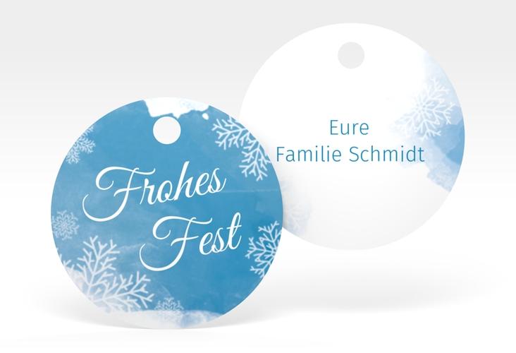 """Geschenkanhänger Weihnachten """"Eisblume"""" Geschenkanhänger, rund"""