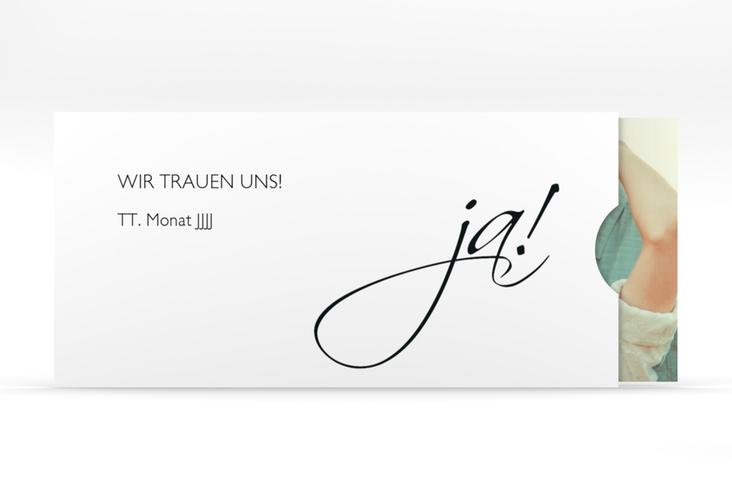 """Hochzeitseinladung """"Clarity"""" Einsteckkarte schwarz"""