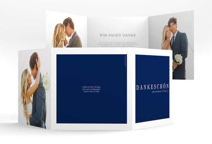 "Dankeskarte Hochzeit ""Simply"" Quadr. Karte doppelt"