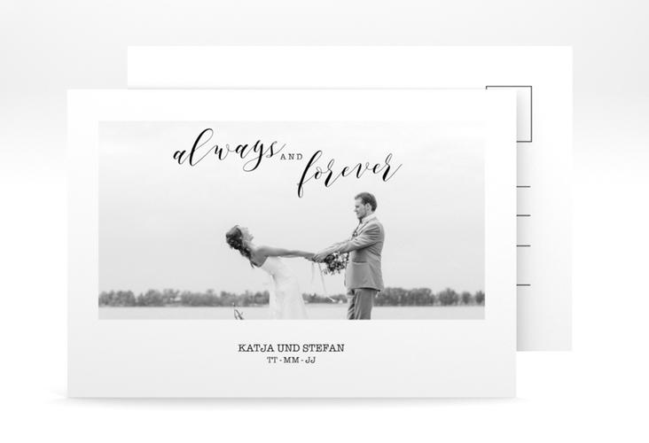 "Verlobungskarte Hochzeit ""Photoframe"" A6 Postkarte"