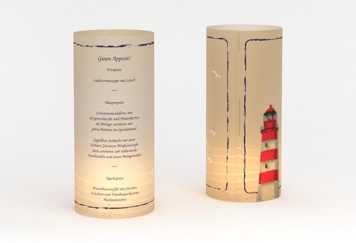 """Windlicht Menü Hochzeit """"Sylt"""" Windlicht"""