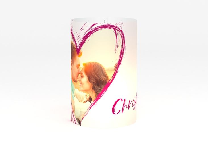 """Windlicht Hochzeit """"Liebe"""" Windlicht pink"""