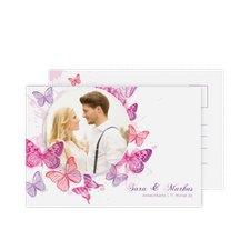"""Antwortkarte Hochzeit """"Schmetterlinge"""""""