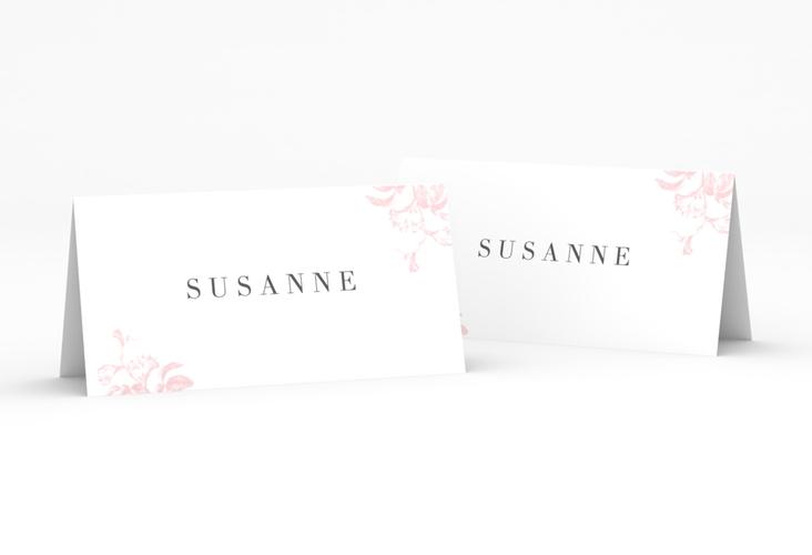 """Tischkarte Hochzeit """"Magnificent"""" Tischkarten rosa"""