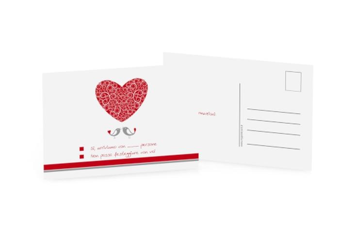 Biglietti risposta matrimonio collezione Mantova A6 Postkarte
