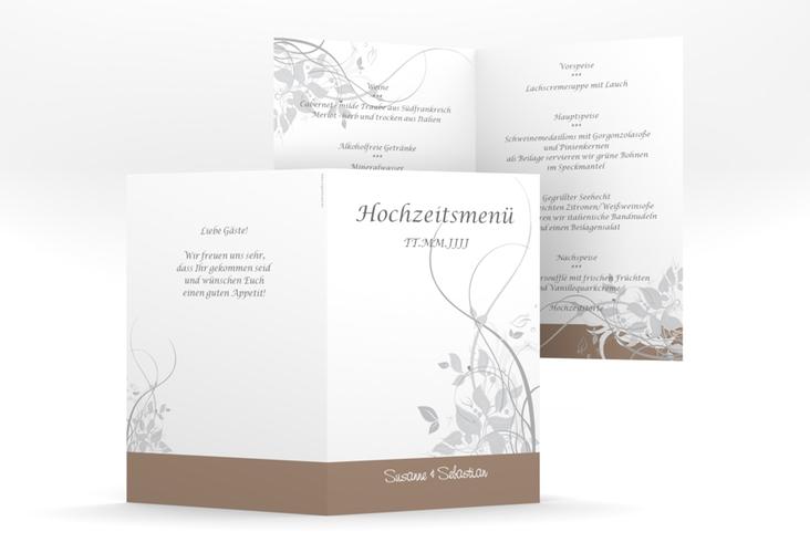 """Menükarte Hochzeit """"Florenz"""" DIN A5 geklappt"""