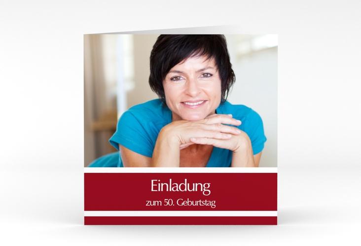"Einladungskarte ""Gerd/Gerda"" Quadratische Klappkarte"
