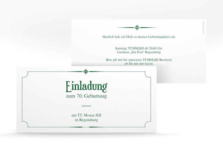"Einladungskarte ""Helmut/Helmine"" DIN lang gruen"