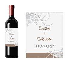 """Weinflaschenetikett Hochzeit """"Florenz"""""""