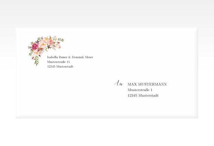 """Kuvert DIN lang """"Flowers"""" DIN lang weiss"""
