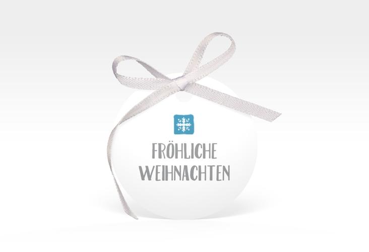 """Geschenkanhänger Weihnachten """"Snowflakes"""" Geschenkanhänger, rund"""
