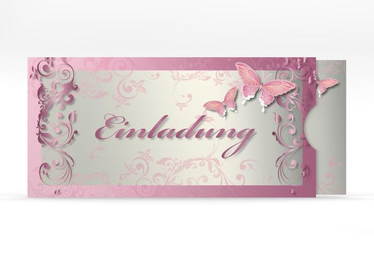 "Hochzeitseinladung ""Toulouse"" Einsteckkarte rosa"