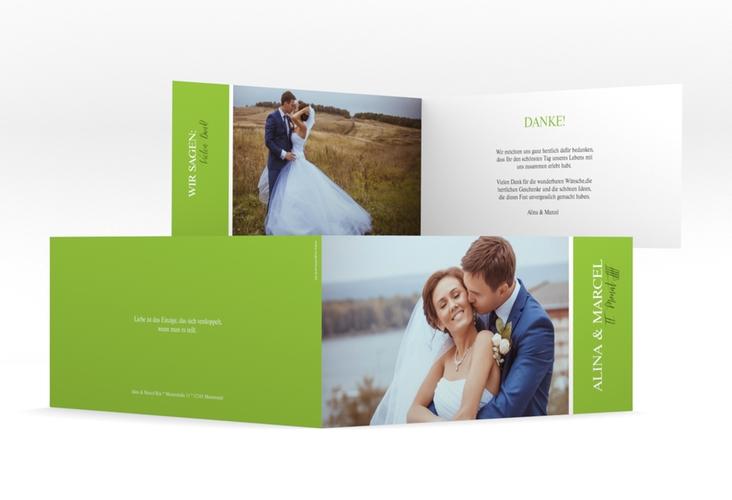 "Danksagungskarte Hochzeit ""Classic"" DIN lang Klappkarte"