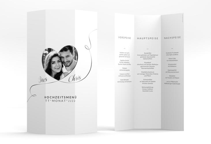 """Menükarte Hochzeit """"Dolce"""" DIN A4 Wickelfalz"""