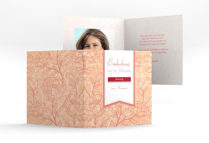 """Einladungskarte """"Marta"""" Quadratische Klappkarte"""
