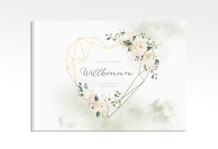 "Willkommensschild Leinwand ""Adore"" 70 x 50 cm Leinwand"