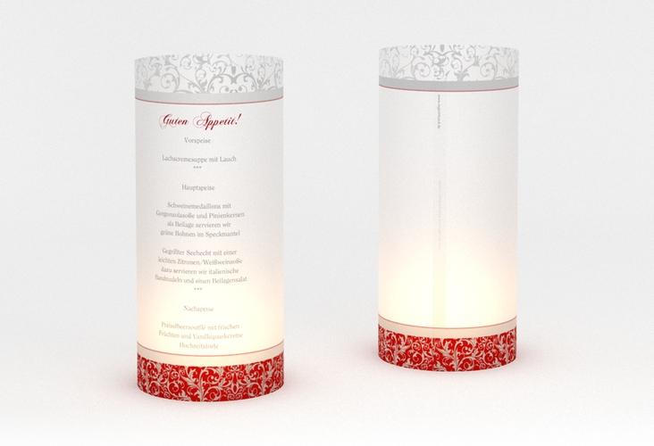 """Windlicht Menü Hochzeit """"Latina"""" Windlicht rot"""