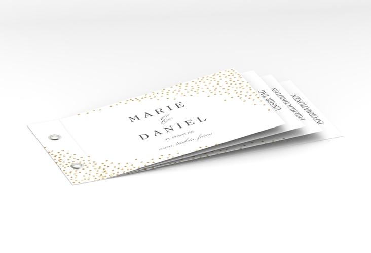 """Hochzeitseinladung """"Glitter"""" Booklet weiss"""