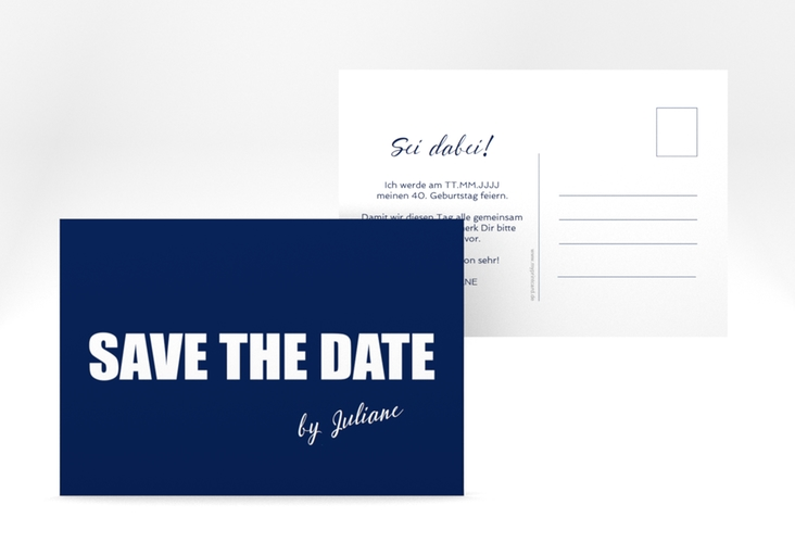 "Save the Date-Postkarte ""Zig"" A6 Postkarte"