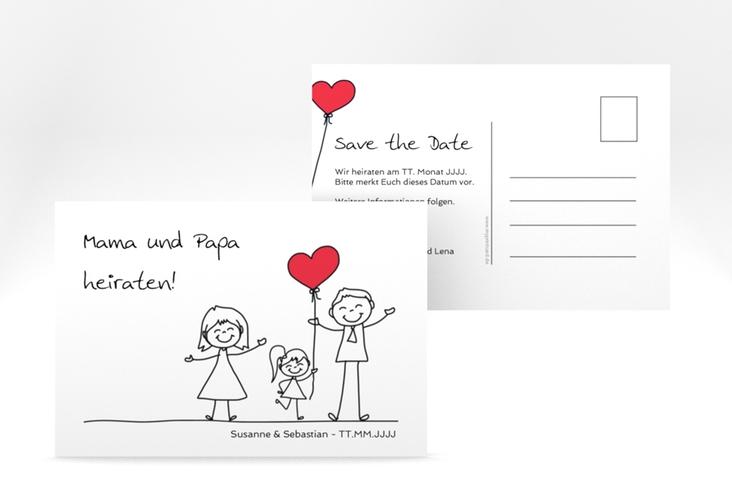 "Save the Date-Postkarte ""Familia"" A6 Postkarte"