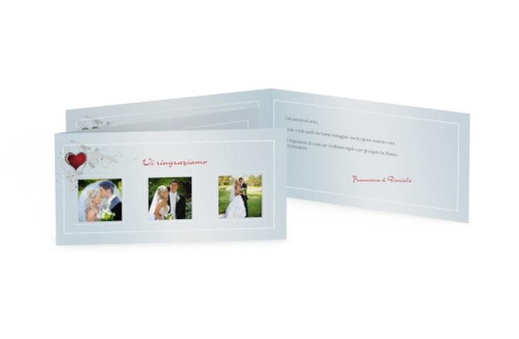 Ringraziamenti matrimonio collezione Bolzano DIN lang Klappkarte