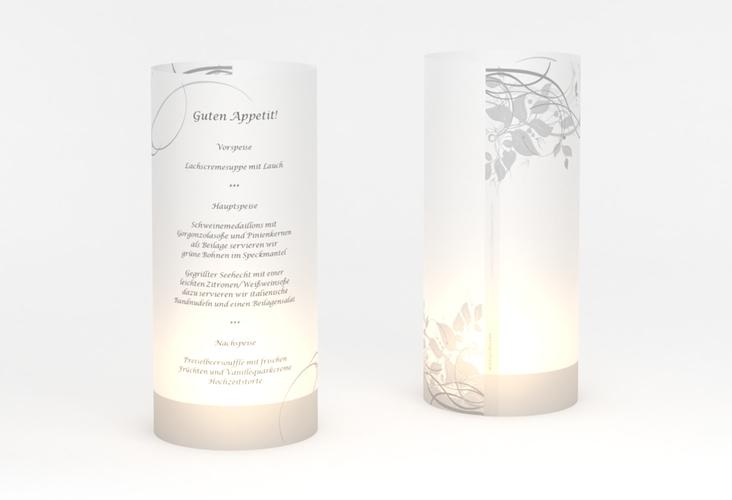"""Windlicht Menü Hochzeit """"Florenz"""" Windlicht grau"""