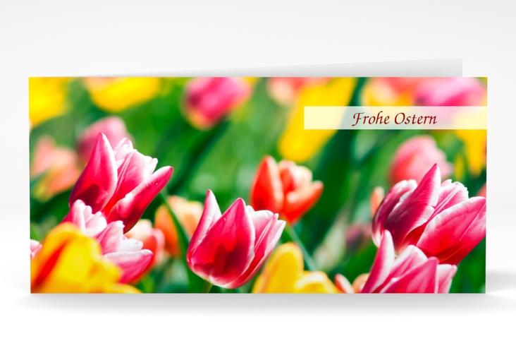 "Osterkarte ""Tulpen"" DIN lang Klappkarte"