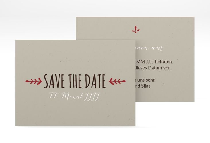 "Save the Date-Visitenkarte ""Eden"" Visitenkarte"