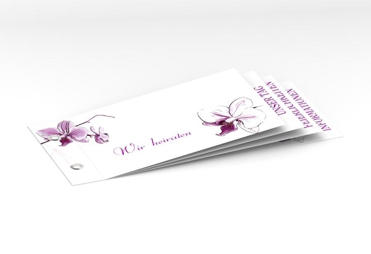 """Einladung Hochzeit """"Modena"""" Booklet weiss"""
