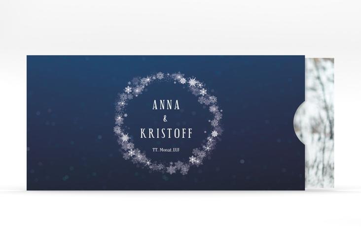"""Hochzeitseinladung """"Winterdream"""" Einsteckkarte"""