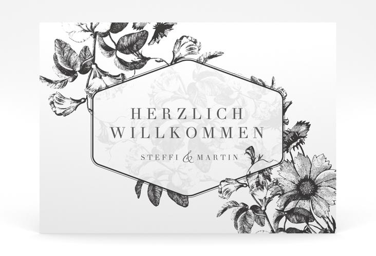 """Willkommensschild Poster """"Magnificent"""" 70 x 50 cm Poster schwarz"""