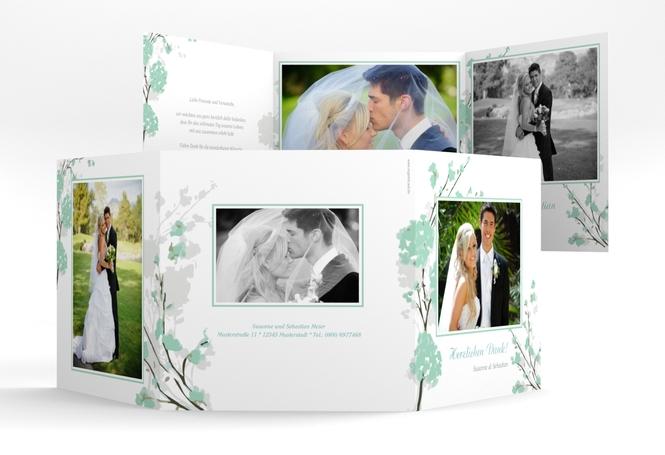 """Danksagungskarte Hochzeit """"Salerno"""" Quadr. Karte doppelt"""
