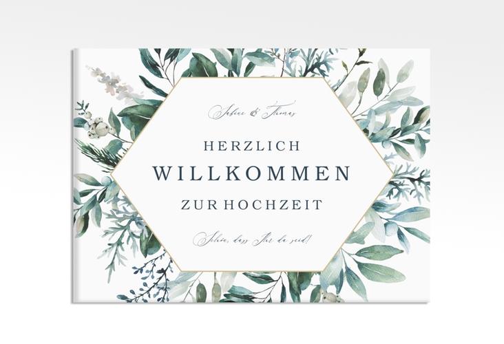"""Willkommensschild Leinwand """"Lumiere"""" 70 x 50 cm Leinwand"""