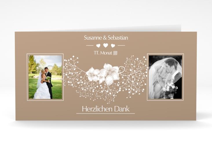 "Danksagungskarte Hochzeit ""Jena"" DIN lang Klappkarte"