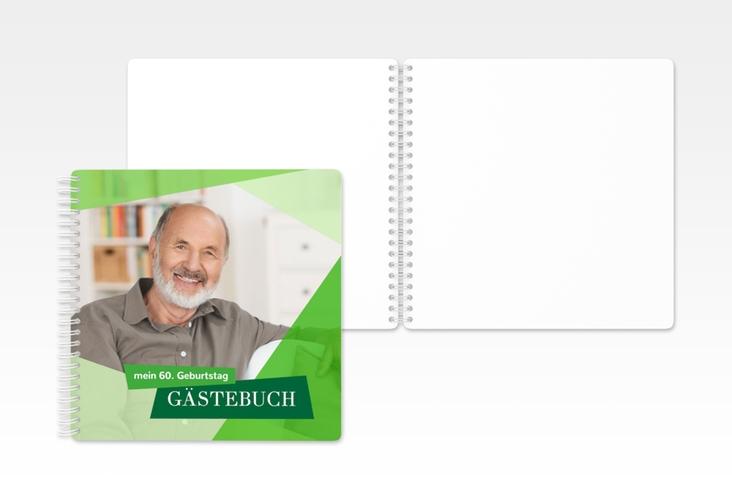 "Gästebuch Geburtstag ""Shapes"" Ringbindung gruen"