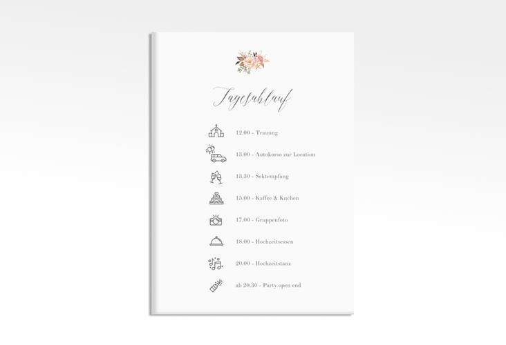 """Tagesablauf Leinwand Hochzeit """"Prachtvoll"""" 50 x 70 cm Leinwand weiss"""